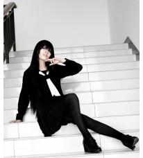 ぬらりひょんの孫 山吹乙女 羽衣狐 コスプレセーラー服 ブラック