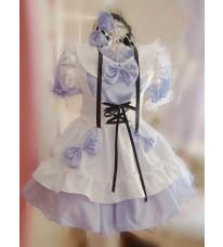 夏新品 メイド服 こスチューム衣装 コスプレ衣装 可愛い蝶結び ロリータ