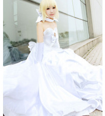 Fate/Zero  Fate/stay night TYPE-MOON 十周年 セイバー(Saber) ウェディングドレス コスプレ