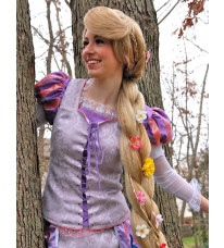 Tangled ディズニー版『塔の上のラプンツェル』 ラプンツェル コスプレ衣装 コスチューム イベント ハロウィン 衣装