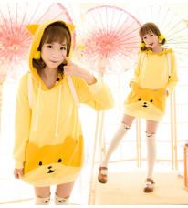 神経汚染犬DOGE 少女萌黄色べっちんバーか セーター