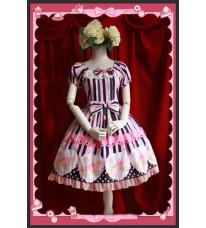 ロリータワンピース ゴスロリ ドレス 綺麗な柄