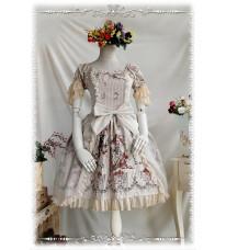プリントワンピース ロリータドレス Lolita OP 3色選択 高品質 豪華