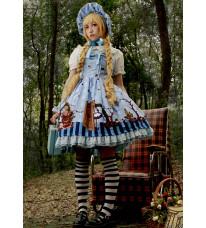 プリントドレス 可愛いアリス風ワンピース Lolita JSK 高品質 豪華