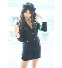 ZONE-00 三峯署・嵐 コスプレ衣装 婦警 婦人警官 警察官 制服 コスチューム