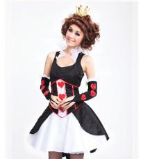 アリス マッドネス リターンズ Alice: Madness Returns Queen of Hearts ハートの女王風 コスプレ衣装 コスチューム デラックスロングドレス・ハロウィン・クィーンオブハート