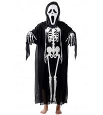 仮面舞踏会ハロウィーン仮装 衣装 髑髏服 スケルトンゴースト 大人|子供 怖いマスク