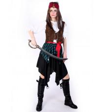 仮面舞踏会衣装COS 海賊風 ジャックキャプテン服装 カリブ海女海賊服 ワールドエンド