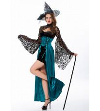 ハロウィーン仮装 大人用 バドのシルクを合わせる 魔女の衣装Cosplay バーパーディー服 コスプレ衣装 演出服