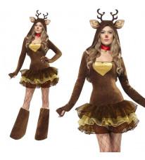 可愛い小さなトナカイ チュチュスカート ハロウィーン/クリスマス バーティー コスチューム コスプレ制服