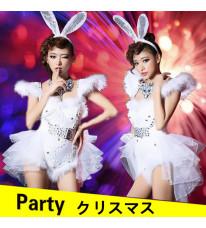 新品 クリスマス服装 バニーガール コスチューム うさ耳 コスプレ 衣装 ダンス衣装
