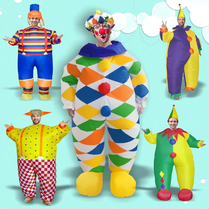 ピエロ 大人気ハロウィン 仮装 膨らませて服 舞台服 コスプレ道具