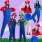 マリオとルイージ スーパーマリオ風 ルイージ風 イベント ハロウィンセット コスチューム 衣装 仮装 ファミリー親子装 パーティーグッズ コスチューム